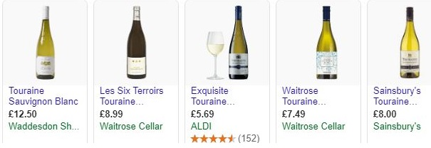 Touraine white wines for sale in the UK.