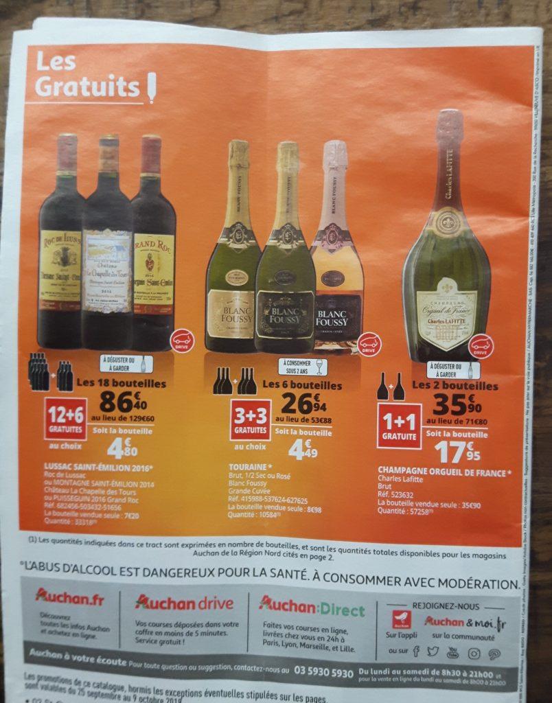 Auchan wine fair magazine back