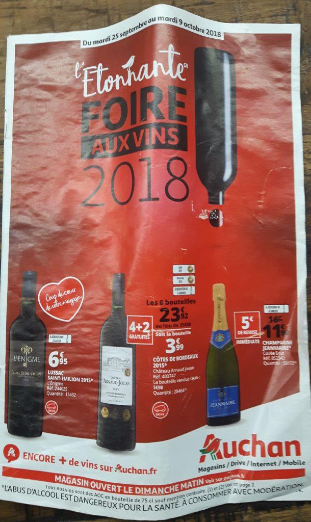 Auchan wine fair magazine front