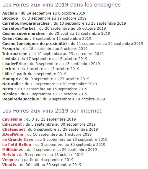 French wine fair dates 2019