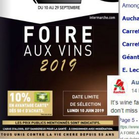 Googling for wine fair dates 2019