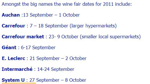 FrenchDuck.com wine fair dates 2011