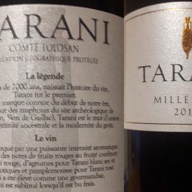 Tarani wine, and helping out Dog Team UK