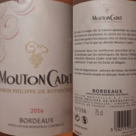 A Mouton Cadet rosé plus some Côte de Provenc